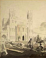 Turner, Builders Fonthill Abbey detail