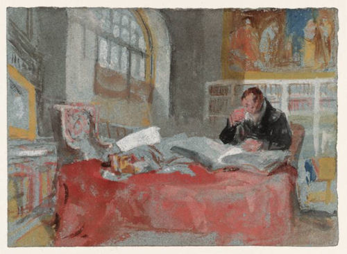 Turner, Man in Old Library